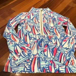 Lilly Pulitzer Size XXS Red Right Return Popover